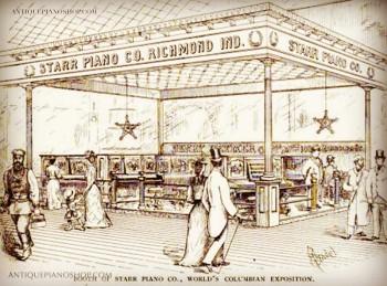 1893年哥倫比亞國際博覽會斯塔爾展位
