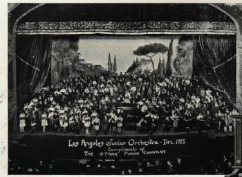 洛杉矶少年管弦樂隊和斯塔爾鋼琴1925年